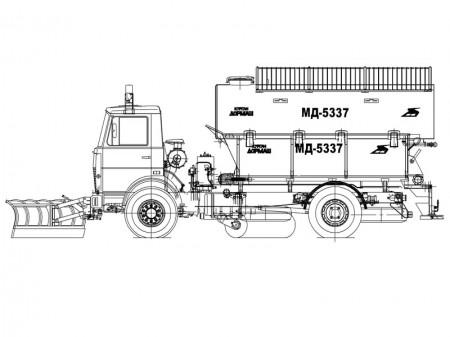 Машина комбинированная уборочная МД-5337