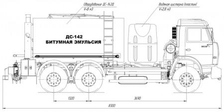 Автогудронатор ДС-142Д-В